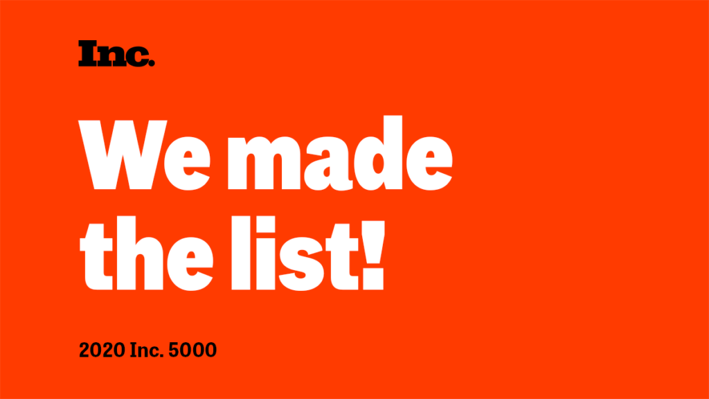 "Celebratory graphic stating ""We made the list!"""
